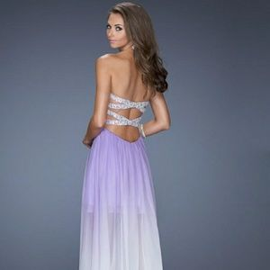 La Femme 17909 Light Purple Chiffon Gown. Size 6